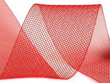 Crinoline Versteifungsband fest S750344-05, Breite 5 cm, Farbe 05 rot