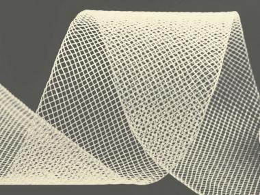 Crinoline Versteifungsband fest S750344-15, Breite 5 cm, Farbe 15 creme