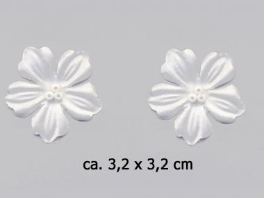 Dekorblume mit Glasperlen Nr. 91489w, Farbe weiß