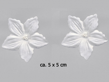 Dekorblume mit Glasperlen Nr. 91490w, Farbe weiß