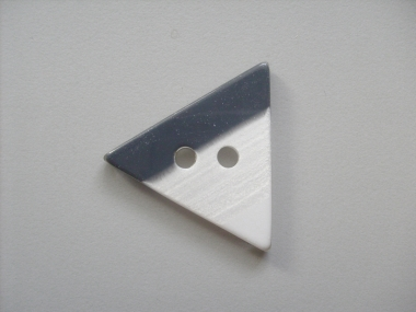 Dreiecksknopf Nr. DK02171/54-03, Farbe 03 schwarz-weiß