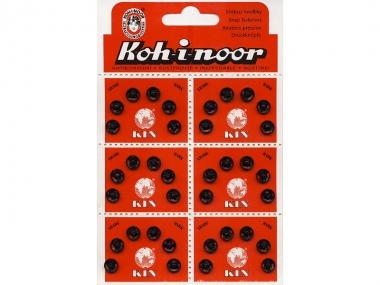 Druckknopf Koh-i-noor Metall schwarz Nr. 0311, Größe 1/2