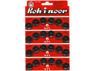 Druckknopf Koh-i-noor Metall schwarz Nr. 1378, Größe 7