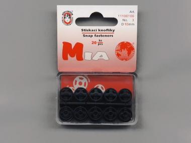 Druckknopf Koh-i-noor Plastik schwarz Nr. 1020, Größe 3