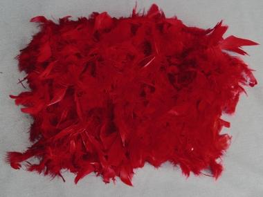 Federboa uni 7417-11, Farbe rot