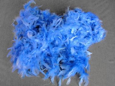 Federboa uni 7417-13, Farbe blau