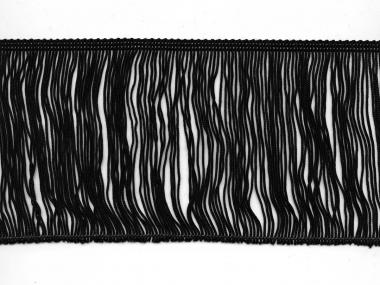 Fransenborte schwarz 8547-12, Breite ca. 11,5 cm