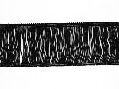 Fransenborte schwarz 8547-08, Breite ca. 7,5 cm