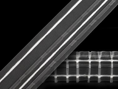 Gardinenband mit Bleistftfalten transparent Nr. 260588, 50 mm