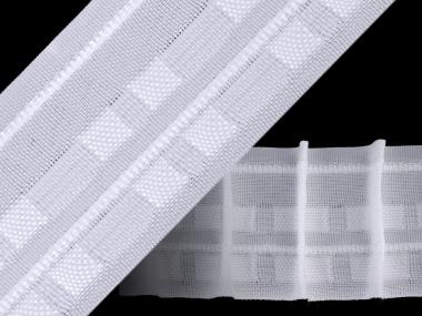 Gardinenband mit Bleistftfalten in weiß Nr. 610093, 50 mm
