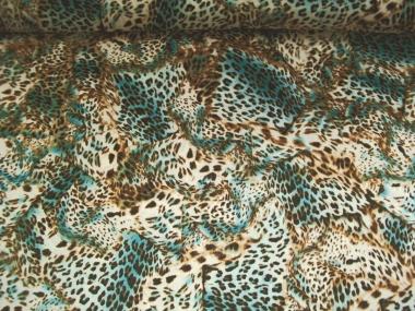 Georgette 467269 Leodruck in natur-braun-türkis