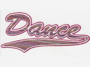 Glitter-Bügelmotiv NS073P - Dance pink