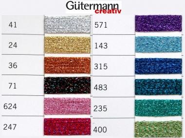 Gütermann Metalleffekt-Faden 50 m Nr. W331-36, Farbe 36 kupfer