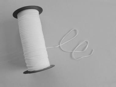 1 Paar Ersatzgummis in weiß für Mund- und Nasenmasken Nr. 9501835-3,