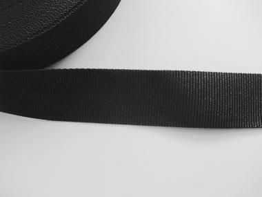 Gurtband 0649-38 schwarz, Stärke ca. 1,5 mm, Breite ca. 38 mm