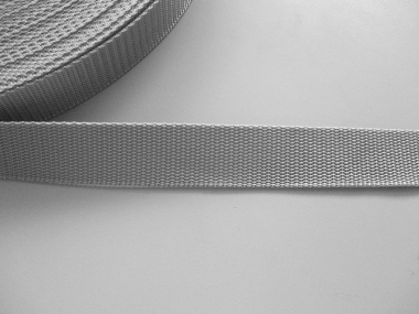 Gurtband 357254-30 silbergrau, Stärke ca. 1,8 mm, Breite ca. 30 mm