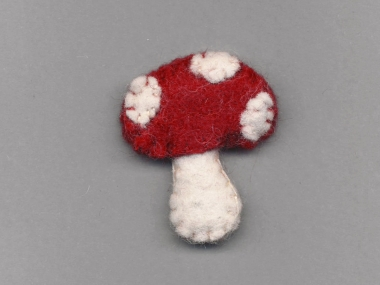 Jim Knopf Filz-Fliegenpilz rot-weiß Nr. 12203