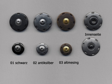 Jim Knopf Druckknopf Metall Nr. 12346-44, Größe 44 (ca. 28 mm)