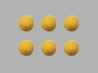Jim Knopf Filzkugel Nr. 11811-03, Farbe 03 gelb