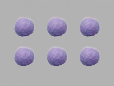 Jim Knopf Filzkugel Nr. 11811-06, Farbe 06 lila