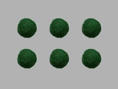 Jim Knopf Filzkugel Nr. 11811-13, Farbe 13 dunkelgrün