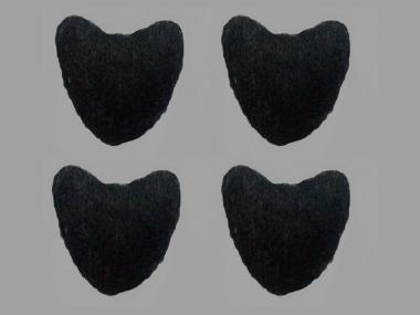 Jim Knopf Filzherz Nr. 11845-01, Farbe 01 schwarz