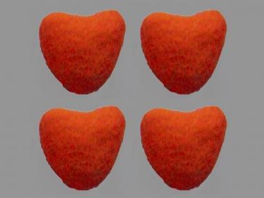 Jim Knopf Filzherz Nr. 11845-08, Farbe 08 orange