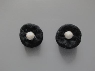 Jim Knopf Filzblume Nr. 12193-01, Farbe 01 schwarz-weiß