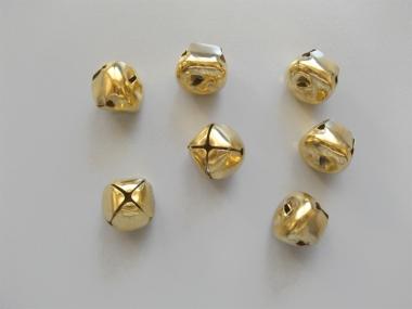 Karnevalsschellen in gold zum Annähen Nr. 743603g-17, Größe 17 mm
