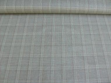 Karostoff Glencheck metallic V3373S grau mit feinem Silberschimmer