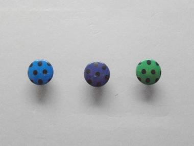 Knopf mit schwarzen Punkten Nr. 6089-24