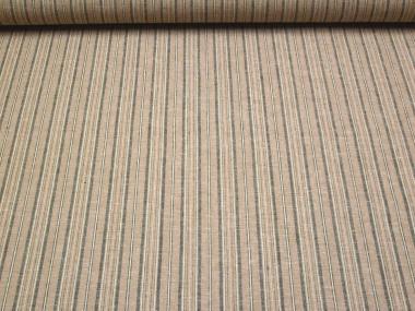Leinen-Viskosestoff 80303 in beige mit Längsstreifen
