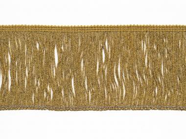 Lurex-Fransenborte gold 8818g-10, Breite ca. 9,5 cm