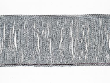 Lurex-Fransenborte silber 8818s-10, Breite ca. 9,5 cm