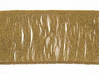 Lurex-Fransenborte gold 8818g-12, Breite ca. 11,5 cm