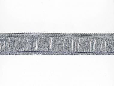 Lurex-Fransenborte silber 8818s