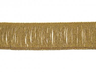 Lurex-Fransenborte gold 8818g-06, Breite ca. 6 cm