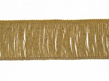 Lurex-Fransenborte gold 8818g-08, Breite ca. 7,5 cm