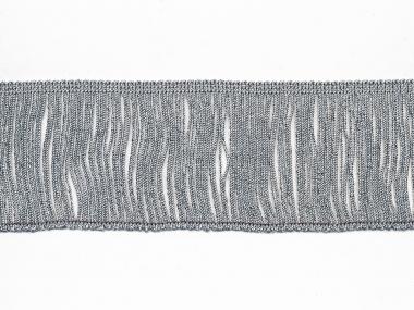 Lurex-Fransenborte silber 8818s-08, Breite ca. 7,5 cm