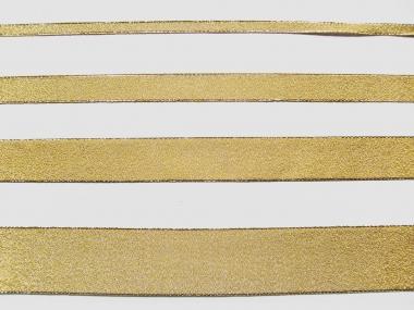 Lurexband Nr. 25197g-25 in gold mit Goldkante, Breite ca. 25 mm