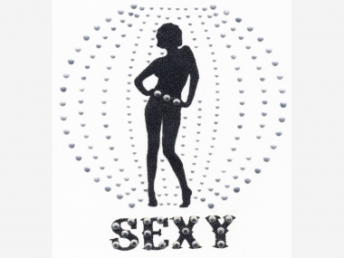 Nieten-/Glitter-Bügelmotiv PS 097 - Sexy Girl