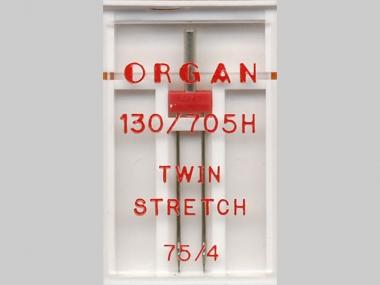 Organ Zwillingsnadel Stretch Nr. 388002