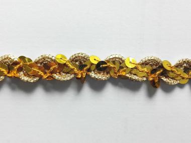 Paillettenband zick-zack gelbgold mit Gimpe Nr. 289476-003