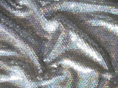 Paillettenstoff HS3239-3 silber irisierend