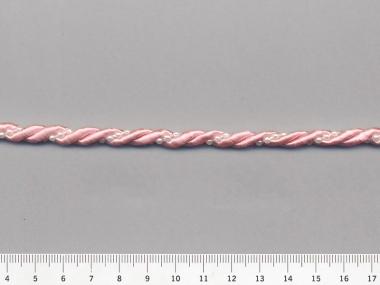 Plattierschnur HP1887 in rosa mit Perlenband perlmutt