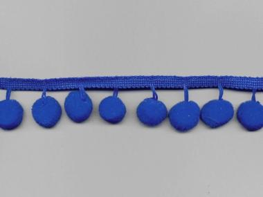 Pomponborte - Bommelborte Nr. 15009-06, Farbe 06 kobaltblau