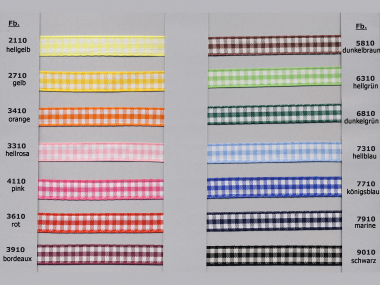 Satinband kariert - Vichyband 1099-2, Breite ca. 10 mm