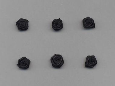 Satinrose R104-030, Farbe schwarz
