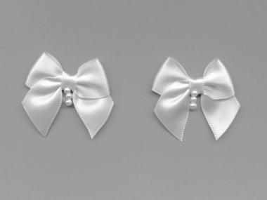 Satinschleife mit Perlenanhänger Nr. 80284
