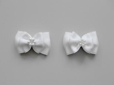Doppel-Satinschleife mit Perlenring Nr. 54412